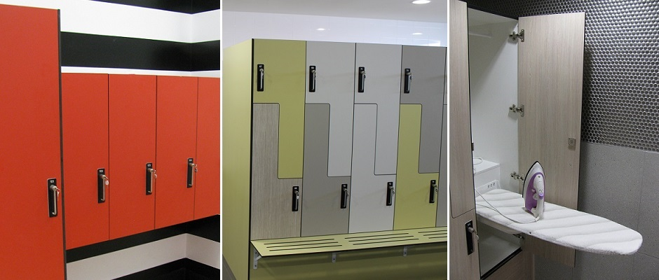 Lockers including Ironing Board